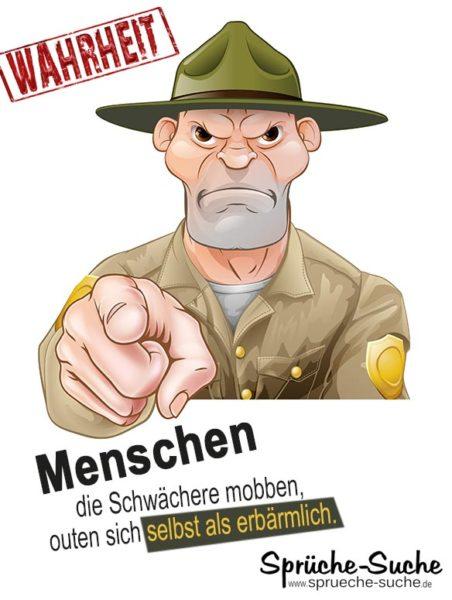 Anti Mobbing Spruch