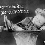Schlafendes Kind - Lustiger Spruch