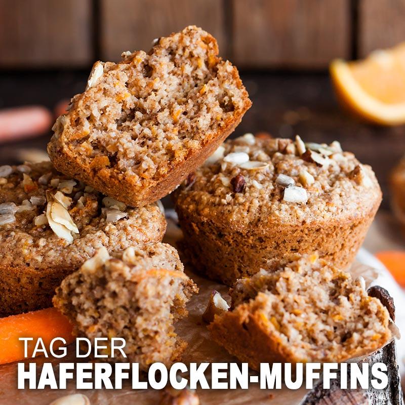 Tag der Haferflocken-Muffins