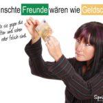 Freunde und Geldscheine - echt oder nicht