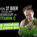 Gesunde Ernährung - Bier Spruch