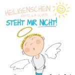 Heiligenschein Spruch mit Engel