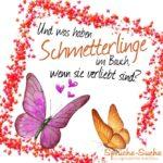 Schmetterlinge verliebt Spruch