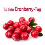 Iss-eine-Cranberry-Tag