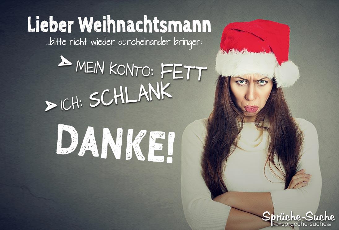 Lieber Weihnachtsmann - Lustiger Wunsch zu Weihnachten - Sprüche-Suche