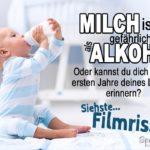 Milch ist gefährlicher als Alkohol - Lustiger Spruch mit Baby