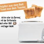 Toast der aus Toaster springt - Ich bin die Semmel