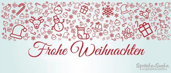 Frohe Weihnachten Text Karte.Frohe Weihnachten Karte Mit Weihnachtlichen Symbolen