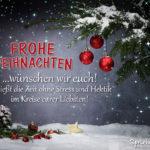 Frohe Weihnachten Wünsche an Familie