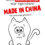 Wochenende Made in China - Spruch Montag