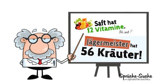 Jägermeister Spruch 56 Kräuter