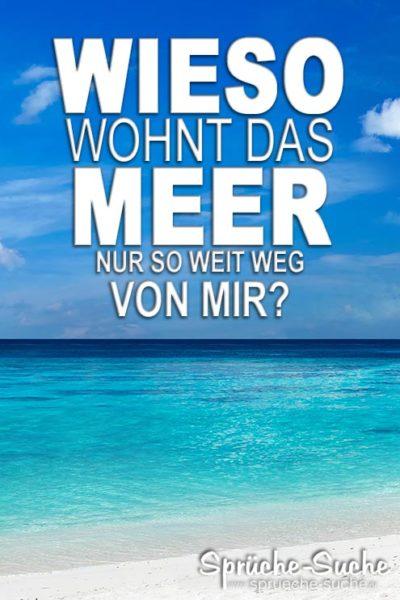 Lustiger Spruch über Urlaub und Meer
