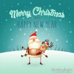 Merry Christmas and Happy new Year Karte