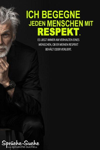 Respekt Sprüche