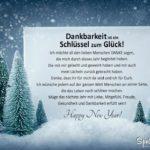 Happy New Year - Karte und Danksagung zu Silvester