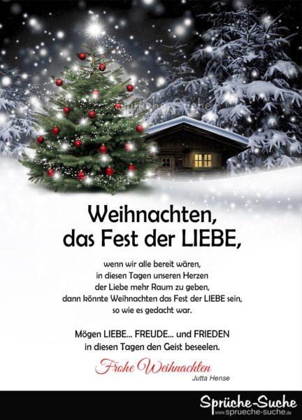 Weihnachten, das Fest der LIEBE - Sprüche zu Weihnachten