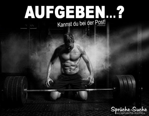 Motivation Kraftsport und Leben - Gewichtheber vor Langhantel