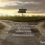 Ein Weg am Feld splittet sich - Sprüche zum Nachdenken - Scheidewege des Lebens
