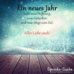 Ein neues Jahr - Spruch zu Silvester und Neujahr