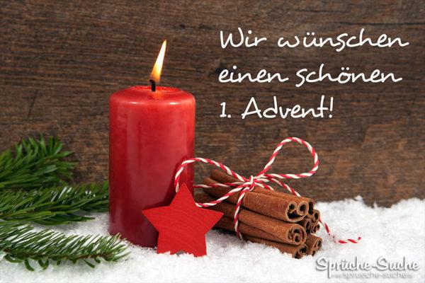 Karte Mit Kerze Zum 1 Advent