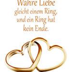 Ring in Herzform - Wahre Liebe ist wie ein Ring Spruch
