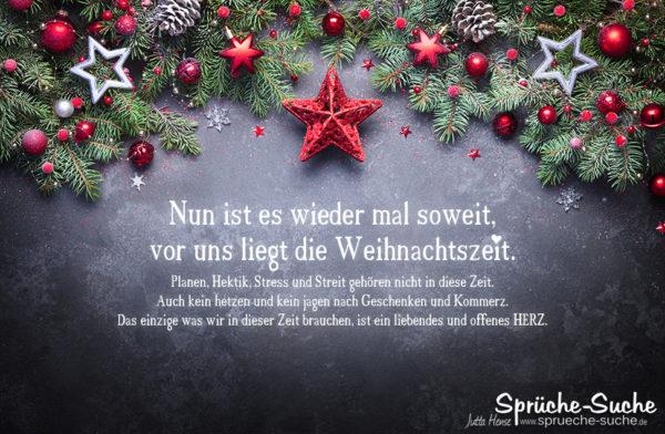 Die Weihnachtszeit liegt vor uns - Gedanken zu Weihnachten