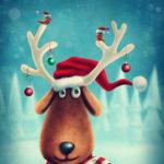 Elch Karte - Frohe Weihnachten