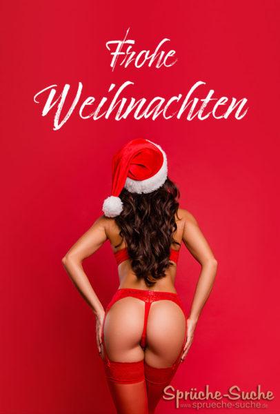 Frohe Weihnachten - Karte mit Frau