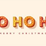 Ho ho ho Merry Christmas Karte Weihnachten