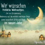 Dorf mit Mond - Klassischer Text für Weihnachtskarten und Silvester