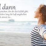 Partner und Liebe Sprüche - Frau am Meer