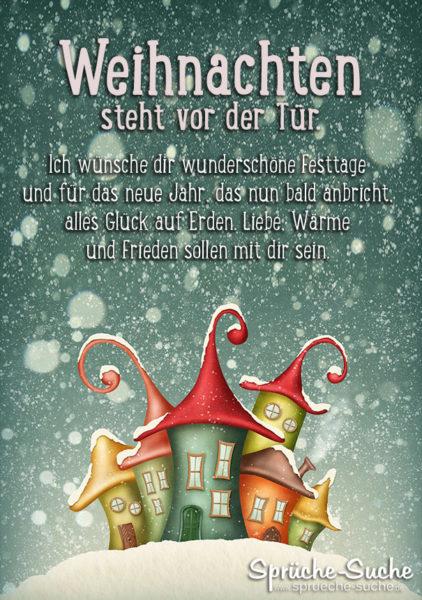 Weihnachten Steht Vor Der Tür Sprüche Zur Weihnachtszeit