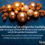 Text an Geschäftspartner - Geschäftliche Weihnachtskarte