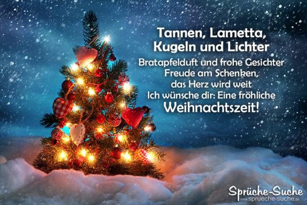 Weihnachtsgedicht- Tannen, Lametta, Kugeln und Lichter