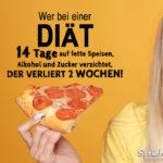 Diät 14 Tage lustiger Spruch