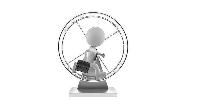 Hetze und Stress auf Arbeit - Gefangen im Hamsterrad