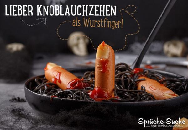 Wurstfinger Spruch