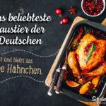 Halbes Hähnchen - beliebteste Haustier der Deutschen - lustiger Spruch