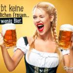 Lustige Sprüche - Es gibt keine hässlichen Frauen nur zu wenig Bier.