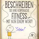 Lustiger Spruch körperliche Fitness