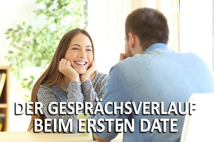 Pärchen am Tisch - Der Gesprächsverlauf beim ersten Date