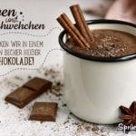 Schöner Schokoladen-Spruch - Sorgen ertränken