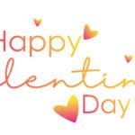 Happy Valentines Day mit vielen Herzen