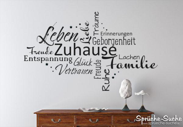 Wandtattoo Zuhause Wörter