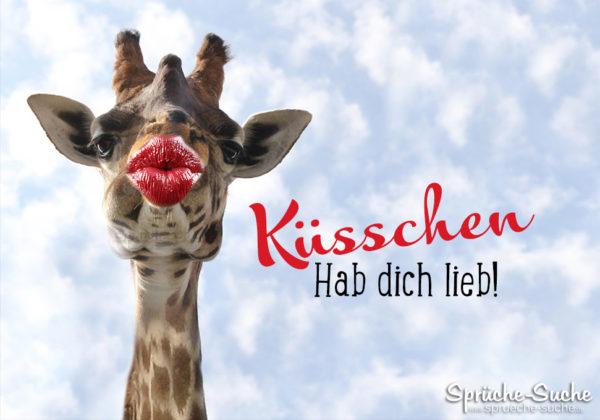 Giraffe - Küsschen - Hab dich lieb