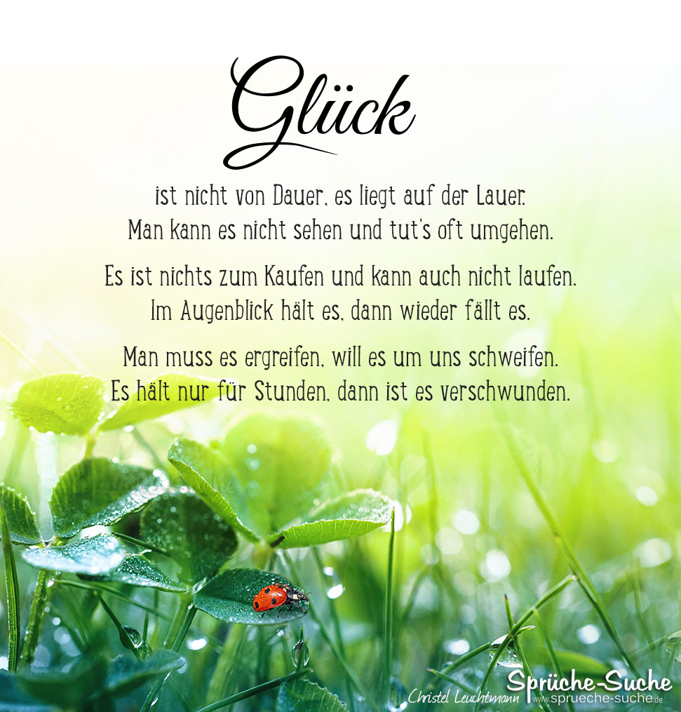 Glück Gedicht - Sprüche-Suche