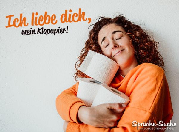Hamsterkauf Klopapier Spruch - Ich liebe dich