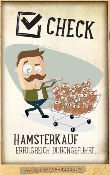 Hamsterkauf - lustige Sprüche