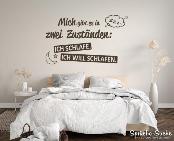 Müde Spruch lustig als Wandtattoo für Schlafzimmer