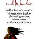 Spruch Frauen sind Wunder